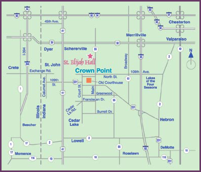 St Elijah Map | Northwest Indiana Banquet Wedding Hall For Rent